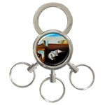 persistance of memory 3-Ring Key Chain