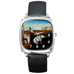 persistance of memory Square Metal Watch