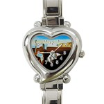 persistance of memory Heart Italian Charm Watch