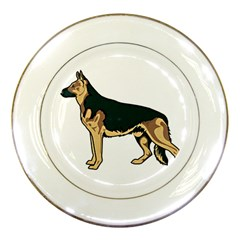 German shepherd 1 Porcelain Plate by zooicidal