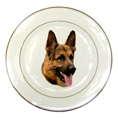 German shepherd 2 Porcelain Plate by zooicidal