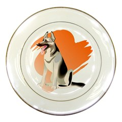 German shepherd 3 Porcelain Plate by zooicidal