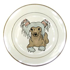 Chinese crested 2 - Porcelain Plate by zooicidal