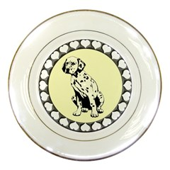 Dalmation puppy Porcelain Plate by zooicidal