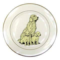 Golden retriever Porcelain Plate by zooicidal