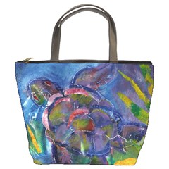 Turtle Ascending By Alana   Bucket Bag   E6q00y03ai28   Www Artscow Com Front