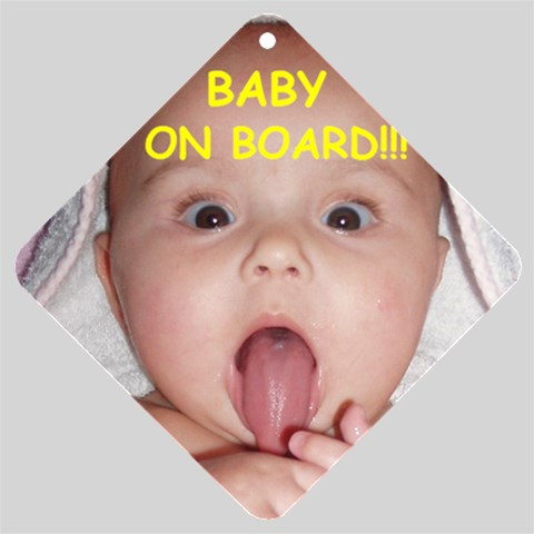 Baby On Board By Bronwyn Haines   Car Window Sign   8d2pfna7l599   Www Artscow Com Front