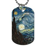 VanGogh-starry_night_edit Dog Tag (One Side)