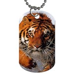 Bathing_tiger Dog Tag (One Side)