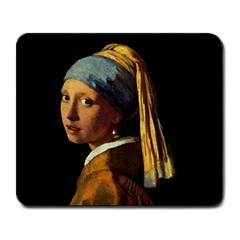 GIRL WITH PEARL EARRING VERMEER ART Mouse Pad by wowgiftmart