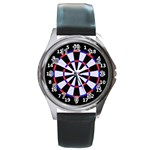 dartboard1 Round Metal Watch