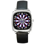 dartboard1 Square Metal Watch