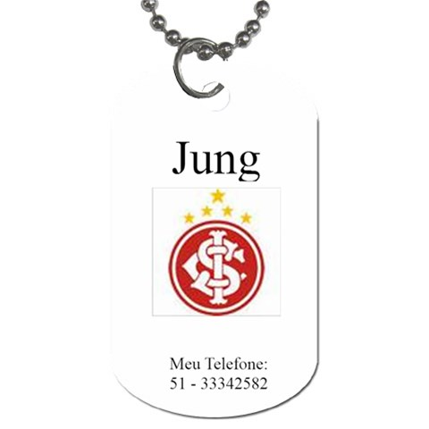 Jung By Flavia Duarte Corazza   Dog Tag (one Side)   Gfr68uwjb2s9   Www Artscow Com Front