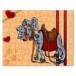 Smiling donkey Jigsaw Puzzle (Rectangular)