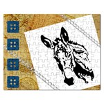 Donkey head Jigsaw Puzzle (Rectangular)