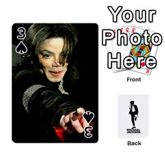 Michael Cards By Tiffany   Playing Cards 54 Designs   Kk166vmmszcr   Www Artscow Com Front - Spade3
