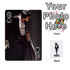 Queen Michael Cards By Tiffany   Playing Cards 54 Designs   Kk166vmmszcr   Www Artscow Com Front - SpadeQ
