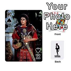 King Michael Cards By Tiffany   Playing Cards 54 Designs   Kk166vmmszcr   Www Artscow Com Front - SpadeK