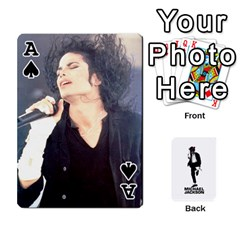 Ace Michael Cards By Tiffany   Playing Cards 54 Designs   Kk166vmmszcr   Www Artscow Com Front - SpadeA