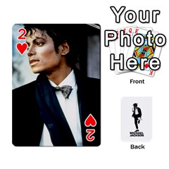 Michael Cards By Tiffany   Playing Cards 54 Designs   Kk166vmmszcr   Www Artscow Com Front - Heart2