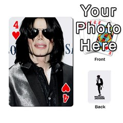 Michael Cards By Tiffany   Playing Cards 54 Designs   Kk166vmmszcr   Www Artscow Com Front - Heart4