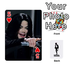 Michael Cards By Tiffany   Playing Cards 54 Designs   Kk166vmmszcr   Www Artscow Com Front - Heart5
