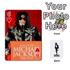 Michael Cards By Tiffany   Playing Cards 54 Designs   Kk166vmmszcr   Www Artscow Com Front - Heart6