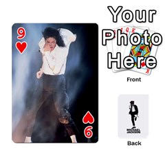 Michael Cards By Tiffany   Playing Cards 54 Designs   Kk166vmmszcr   Www Artscow Com Front - Heart9