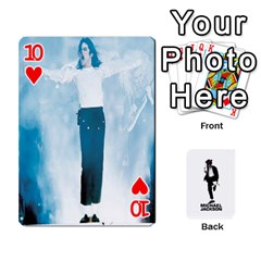 Michael Cards By Tiffany   Playing Cards 54 Designs   Kk166vmmszcr   Www Artscow Com Front - Heart10