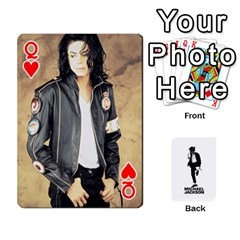 Queen Michael Cards By Tiffany   Playing Cards 54 Designs   Kk166vmmszcr   Www Artscow Com Front - HeartQ