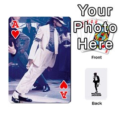 Ace Michael Cards By Tiffany   Playing Cards 54 Designs   Kk166vmmszcr   Www Artscow Com Front - HeartA