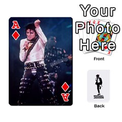 Ace Michael Cards By Tiffany   Playing Cards 54 Designs   Kk166vmmszcr   Www Artscow Com Front - DiamondA