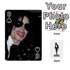 Michael Cards By Tiffany   Playing Cards 54 Designs   Kk166vmmszcr   Www Artscow Com Front - Spade8
