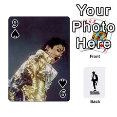 Michael Cards By Tiffany   Playing Cards 54 Designs   Kk166vmmszcr   Www Artscow Com Front - Spade9
