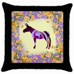 Swirl donk Throw Pillow Case (Black)