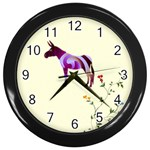 Swirl donk Wall Clock (Black)