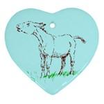 Donkey 2 Ornament (Heart)