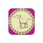Donkey 2 Rubber Square Coaster (4 pack)