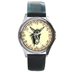Donkey 3 - Round Metal Watch