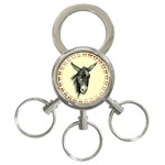 Donkey 3 - 3-Ring Key Chain