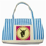 Donkey 3 - Striped Blue Tote Bag
