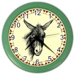 Donkey 3 - Color Wall Clock