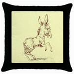 Donkey 5 Throw Pillow Case (Black)