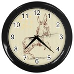 Donkey 5 Wall Clock (Black)