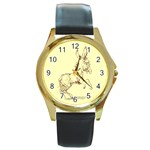 Donkey 5 Round Gold Metal Watch