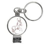 Donkey 5 Nail Clippers Key Chain