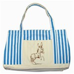 Donkey 5 Striped Blue Tote Bag