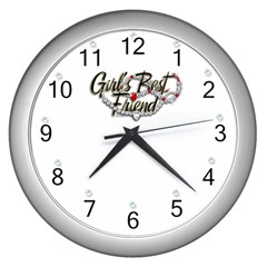 diamonds89 Wall Clock (Silver) by zilvinasandalice