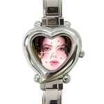 Michael Jackson Heart Italian Charm Watch