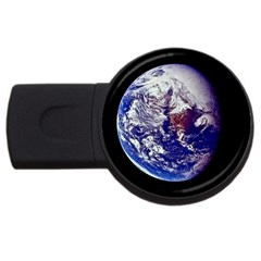 earth_from_space USB Flash Drive Round (2 GB) by bluestaroceans